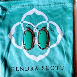 Kendra Scott Green Elle Earrings